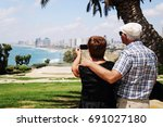 portrait of senior couple... | Shutterstock . vector #691027180