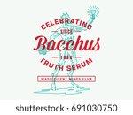 bacchus wine choice vector... | Shutterstock .eps vector #691030750