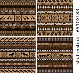 four backgrounds with african... | Shutterstock .eps vector #69103183