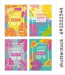sale banner  poster with... | Shutterstock .eps vector #691032544