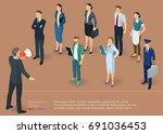 flat design 3d isometric... | Shutterstock .eps vector #691036453