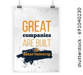 great companies are built on... | Shutterstock .eps vector #691040230