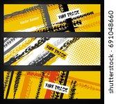 vector automotive banners... | Shutterstock .eps vector #691048660