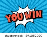 you win lettering pop art text... | Shutterstock .eps vector #691052020