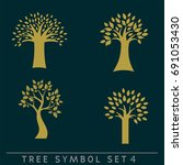 set of simple and stylish tree... | Shutterstock .eps vector #691053430