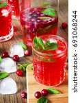 fresh cranberry juice from the... | Shutterstock . vector #691068244