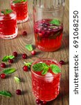 fresh cranberry juice from the... | Shutterstock . vector #691068250