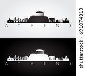 Athens Skyline And Landmarks...