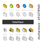 set of isometric icons in... | Shutterstock .eps vector #691078960