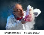 chemist crazy about his... | Shutterstock . vector #691081060