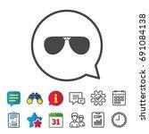 aviator sunglasses sign icon....   Shutterstock .eps vector #691084138