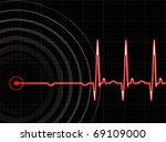 heart beating again in editable ... | Shutterstock .eps vector #69109000