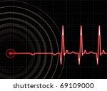 heart beating again in editable ... | Shutterstock .eps vector #69109000
