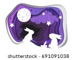 chinese mid autumn festival.... | Shutterstock . vector #691091038