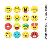 cartoon emoji premium... | Shutterstock . vector #691091080