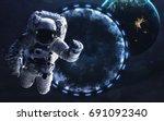 star gate  science fiction... | Shutterstock . vector #691092340