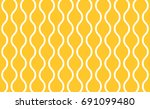 seamless yellow and white... | Shutterstock .eps vector #691099480