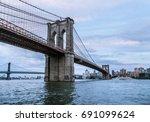 brooklyn bridge  new york  | Shutterstock . vector #691099624