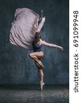 young beautiful dancer is...   Shutterstock . vector #691099948