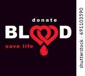 volunteer donorship  healthcare ... | Shutterstock .eps vector #691103590