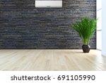 modern bright living room ... | Shutterstock . vector #691105990