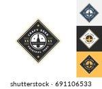 vintage beer logo design...   Shutterstock .eps vector #691106533
