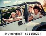 happy young people are smiling... | Shutterstock . vector #691108234