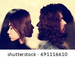 male and female concept. toned. ... | Shutterstock . vector #691116610