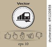 train icon | Shutterstock .eps vector #691120858