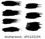 vector collection of artistic... | Shutterstock .eps vector #691122154