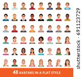 large vector set of avatars of... | Shutterstock .eps vector #691123729