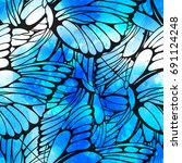 vector seamless pattern of... | Shutterstock .eps vector #691124248