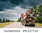 special concrete transport... | Shutterstock . vector #691127710