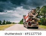 special concrete transport... | Shutterstock . vector #691127710