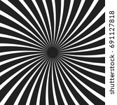 black and white spiral ray... | Shutterstock .eps vector #691127818