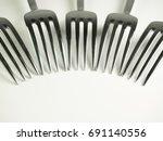 furrows arranged side by side... | Shutterstock . vector #691140556