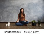 people  meditation and... | Shutterstock . vector #691141294