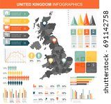united kingdom with infographic ... | Shutterstock .eps vector #691142758