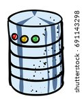 cartoon image of database icon. ...