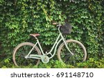Vintage Bicycle With A Basket...