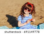 summer photo of cute little... | Shutterstock . vector #691149778