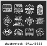 t shirt print design. legends... | Shutterstock .eps vector #691149883