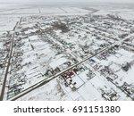 winter view from the bird's eye ... | Shutterstock . vector #691151380