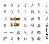 exhibition community vector...   Shutterstock .eps vector #691152178