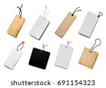 collection of  various price... | Shutterstock . vector #691154323
