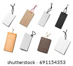 collection of  various price... | Shutterstock . vector #691154353