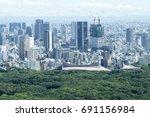 tokyo landscape around shibuya... | Shutterstock . vector #691156984