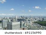 tokyo landscape july | Shutterstock . vector #691156990