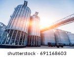 Modern Silos For Storing Grain...