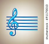 music violin clef sign. g clef. ... | Shutterstock .eps vector #691170010